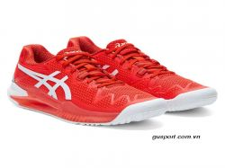 Giày tennis Asics Gel Resolution 8 (1042A-072-601)- FieryRed/White