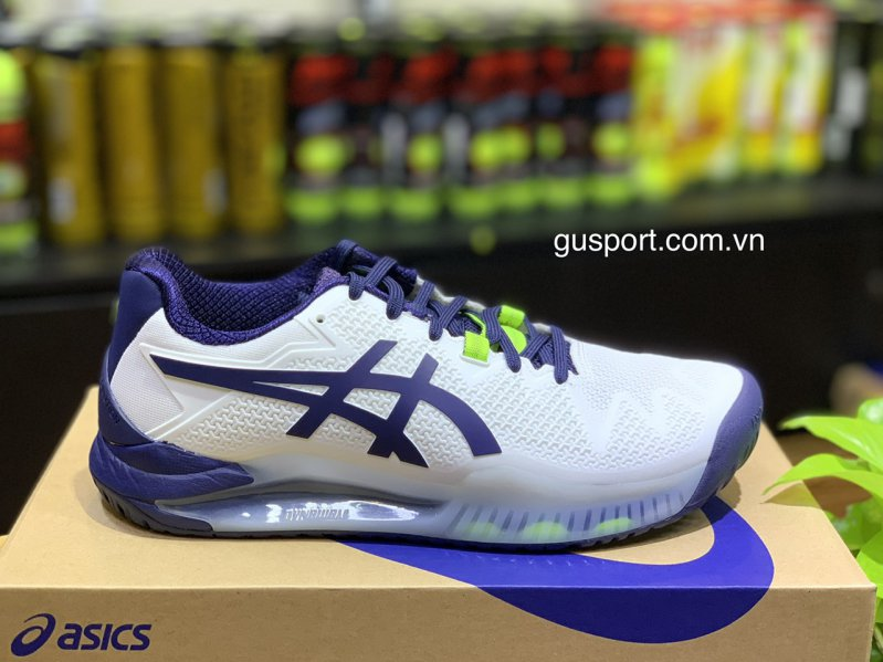 Giày tennis Asics Gel Resolution 8 (1041A079-102) White/Peacoat A